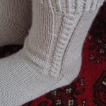 Cable Socks in Alpaca