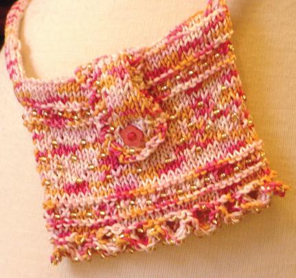 Halcyon Yarn Beaded Bag Pattern - Jagger 3/8 Wool, Knitting
