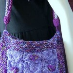 Cables and Bobbles Patchwork Shoulder Bag