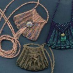Knitted Beaded Amulet Bag