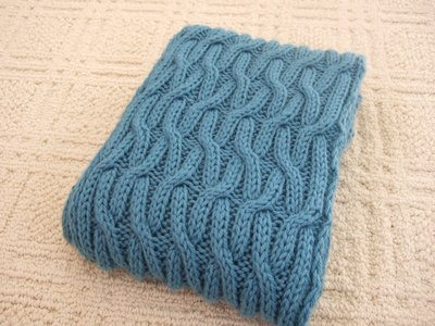 Reversible Cabled Scarf Knitting Pattern | Transient