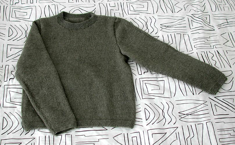 Easy Chunky Jumper Knitting Pattern - White Polo Sweater