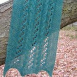 Lace and Cables Scarf with Beads