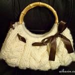 Cable Knit Purse