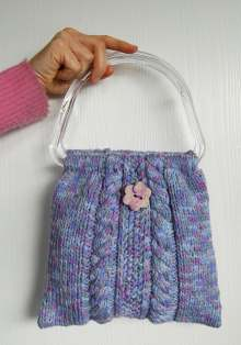 CABLE PURSE KNIT PATTERN Free Knitting and Crochet Patterns