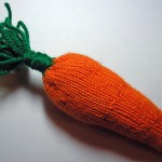 Large Carrot - Free Knitting Pattern