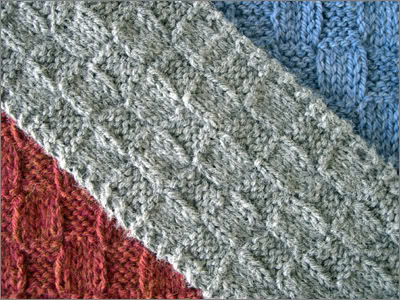 Check Check Scarf Knitting Bee