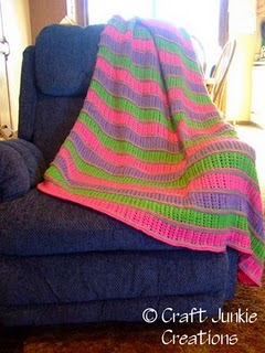 Free Knitting Pattern - Chunky Braid Lace Afghan from the Afghans