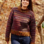Colorwork Knitted Turtleneck Sweater