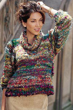 Free Knitting Pattern For Ladies Cowl Neck Sweater : FREE COWL NECK SWEATER PATTERN Lena Patterns
