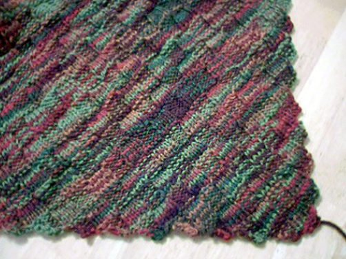 Diagonal Basketweave Blanket Knitting Bee