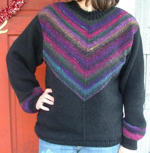 Diagonal Knit Noro Yarn Sweater