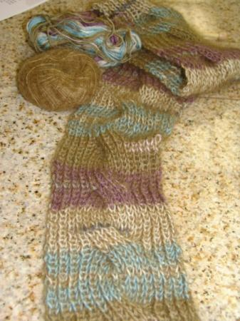 Cable Scarft Knitting Pattern