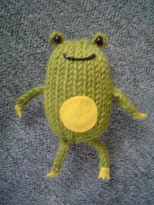 frog knitting pattern