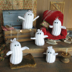 halloween ghosties - Free Halloween Knitting Patterns