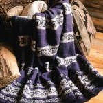 Greek Key Striped Afghan