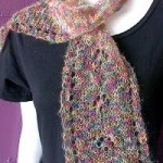 Kid Merino Cat's Paw Lace Scarf