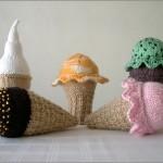 Scoop Knit Ice Cream Cone