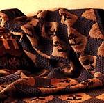 Knit Stencil-Like Afghan