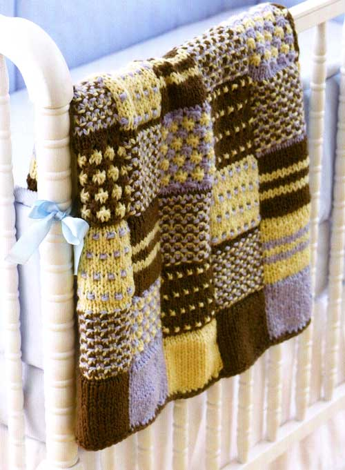 Knitting Quilt Patterns : Quilt knitted patchwork ⋆ knitting bee
