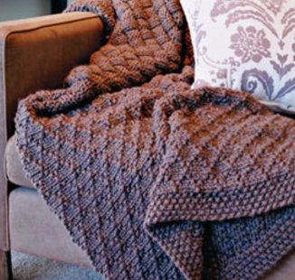 Lattice and Basketweave Throw