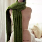 Very Long Ribbed Scarf