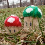 Super Mario Mushroom Knitted Toy