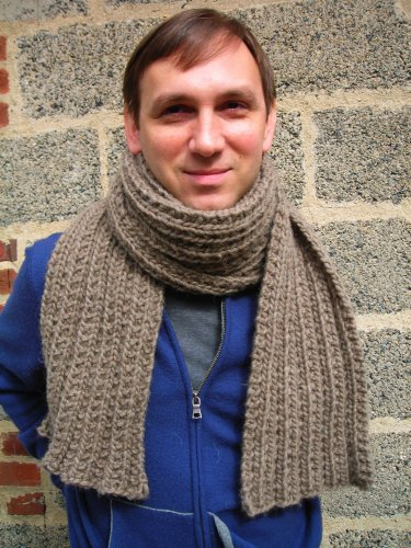 Montana Mens Scarf Pattern Knitting Men's Scarves Pattern