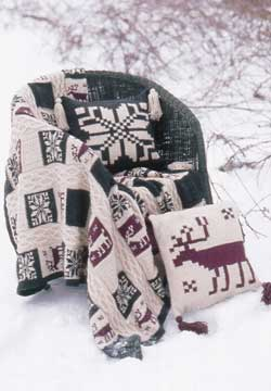 Northern Motifs Afghan and Pillow