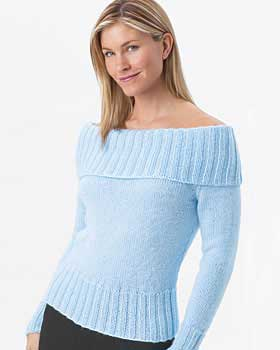 FREE KNITTING PATTERN OFF SHOULDER SWEATER - VERY SIMPLE FREE KNITTING PATTERNS