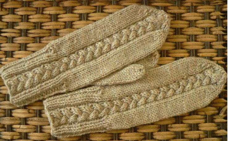 Plait Cable Mittens Knitting Bee