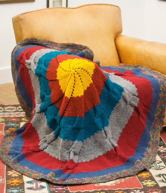 Free Free Circular Blanket Knitting Pattern Patterns Knitting Bee