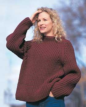 Knit Sweater Pattern With Ribbing - Long Sweater Jacket