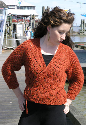 Ballet Wrap Cardigan by Vermont Fiber Designs