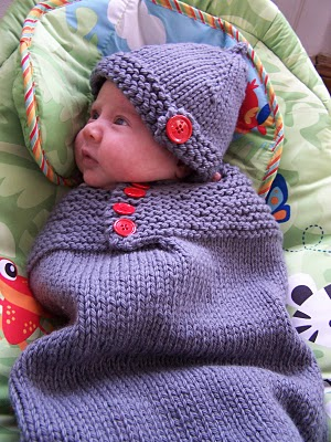 Snuggle Cocoon Free Knitting Pattern for Baby