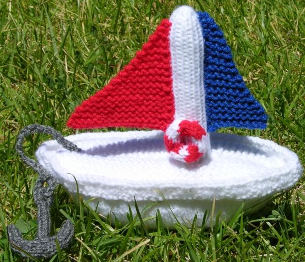 Toy Boat - Knitting Pattern