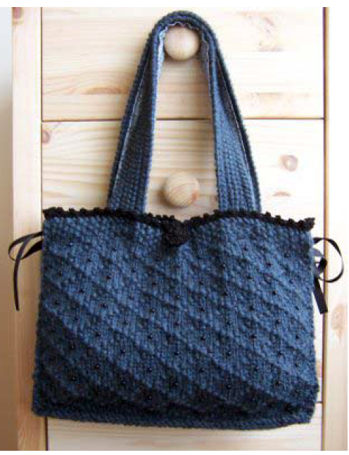 Knitted Bag Patterns For Beginners : Pin Free Beginner Tote Bag Pattern on Pinterest