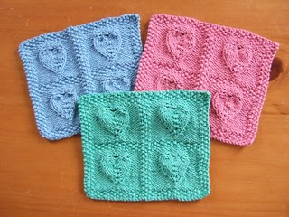 Four Embossed Hearts Cloth