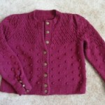 Bobble and Lattice Cardigan