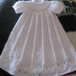Cabled Yoke Christening Gown