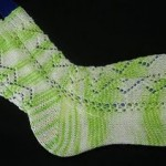 Diamond Chain Toe Up Socks