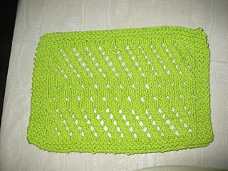 FREE KNITTED DISH CLOTH PATTERNS