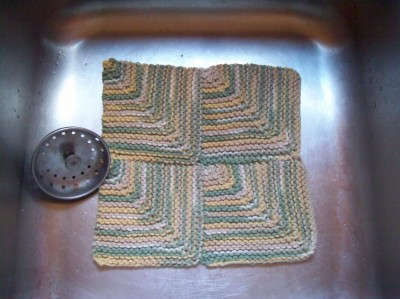 Four-Square Mitered Dishcloth