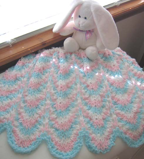 Free Blanket Knitting Patterns : KNIT PATTERN FOR BABY BLANKET - FREE PATTERNS