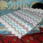 Feather & Fan Baby Blanky Pattern