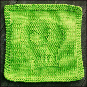 Skully Dishcloth ⋆ Knitting Bee