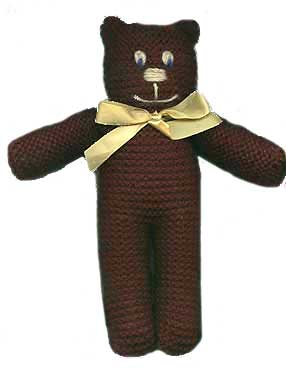 Quick Knit Teddy Bear with Pussy Cat Variation