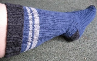 Self-Striping Knit Socks Knitting Pattern | Red Heart
