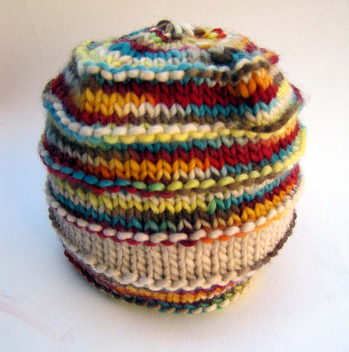 Super Natural Stripes Beanie Knitting Bee