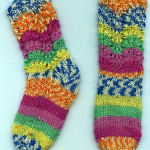 Baby Feather and Fan Socks